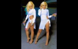 Dancehall twin deejays K Queens.