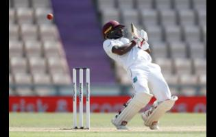Blackwood evades a rising delivery from England's paceman Jofra Archer during the final day of the first cricket Test match.